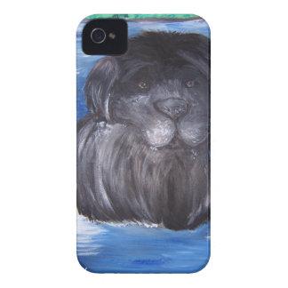 Pintura del perro de Terranova iPhone 4 Case-Mate Coberturas