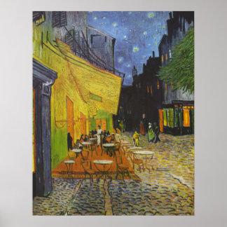 Pintura del Poste-Impresionista de la terraza del Póster