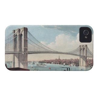 Pintura del puente de Brooklyn iPhone 4 Case-Mate Protectores
