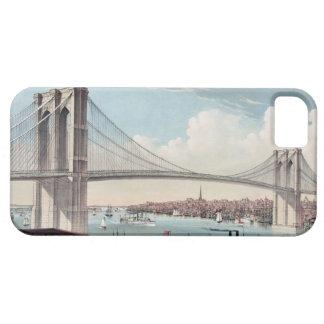 Pintura del puente de Brooklyn iPhone 5 Carcasa