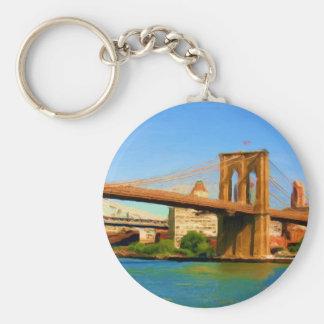 Pintura del puente de Brooklyn Llaveros