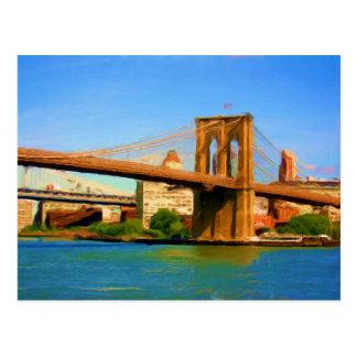 Pintura del puente de Brooklyn Postales