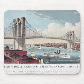 Pintura del puente de Brooklyn Tapete De Ratón