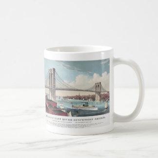 Pintura del puente de Brooklyn Taza