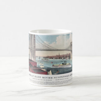 Pintura del puente de Brooklyn Taza Clásica
