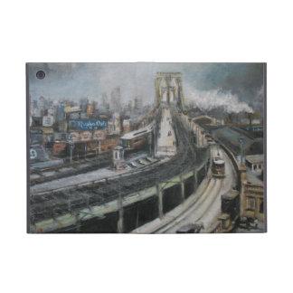 Pintura del puente de New York City Brooklyn del v iPad Mini Protectores
