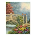 Pintura del puente que camina de A rodeado por las Postales