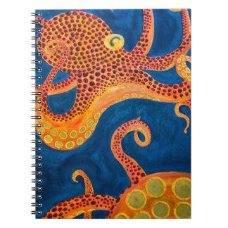 pintura del pulpo cuaderno