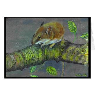 Pintura del ratón de campo felicitaciones
