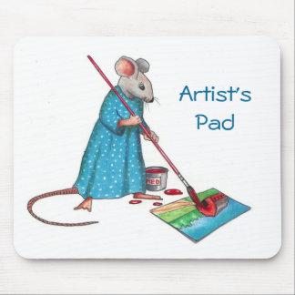 """Pintura del ratón: El """"cojín del artista"""": Arte de Mousepad"""