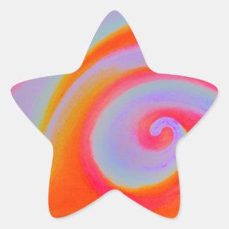 Pintura del remolino del color pegatina en forma de estrella