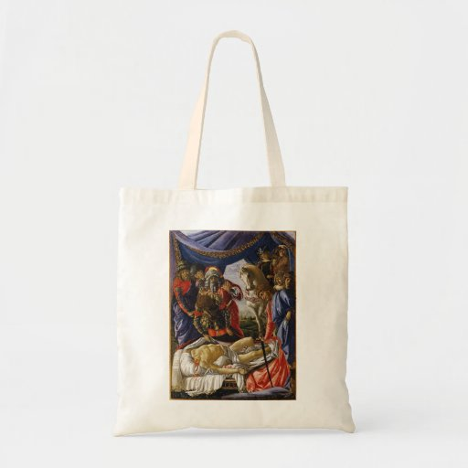 Pintura del renacimiento de Botticelli Bolsa Tela Barata