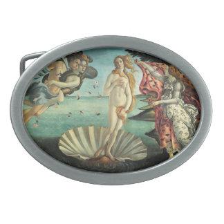 Pintura del renacimiento de Botticelli Hebillas Cinturón Ovales