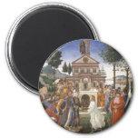 Pintura del renacimiento de Botticelli Imán Para Frigorifico