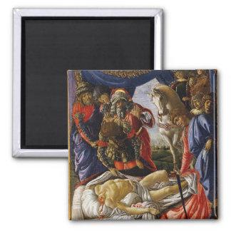 Pintura del renacimiento de Botticelli Imán Cuadrado