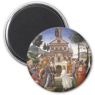 Pintura del renacimiento de Botticelli Imán Redondo 5 Cm