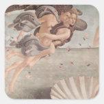 Pintura del renacimiento de Botticelli Pegatinas Cuadradas Personalizadas