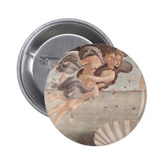 Pintura del renacimiento de Botticelli Pin Redondo De 2 Pulgadas