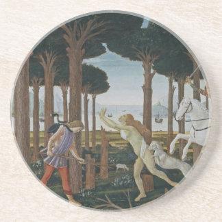 Pintura del renacimiento de Botticelli Posavasos Cerveza