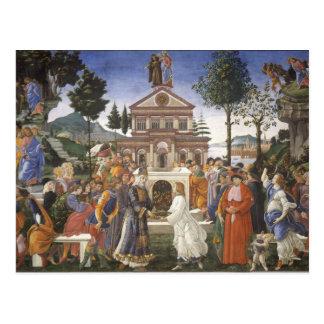 Pintura del renacimiento de Botticelli Postales