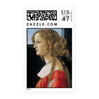 Pintura del renacimiento de Botticelli Sellos Postales