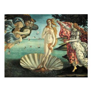 Pintura del renacimiento de Botticelli Tarjetas Postales