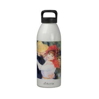 Pintura del renoir del baile de la mujer del hombr botellas de agua reutilizables