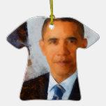Pintura del retrato de Obama Ornamentos De Reyes