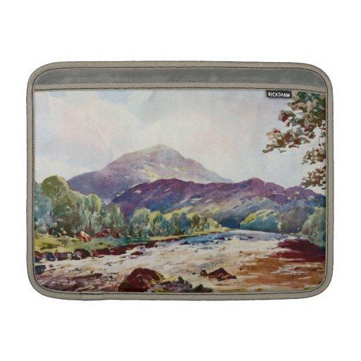 pintura del río Teith Escocia Fundas Macbook Air