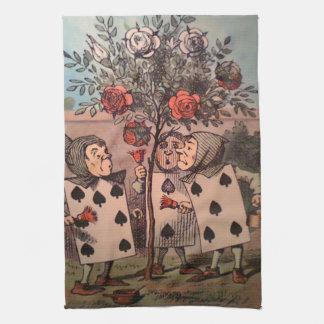 Pintura del rojo 2 de los rosas toallas