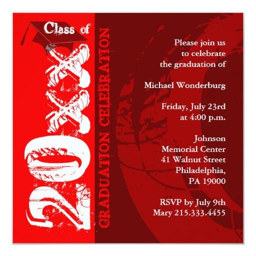 Pintura del rojo de la invitación ARQ210 de la Invitación 13,3 Cm X 13,3cm