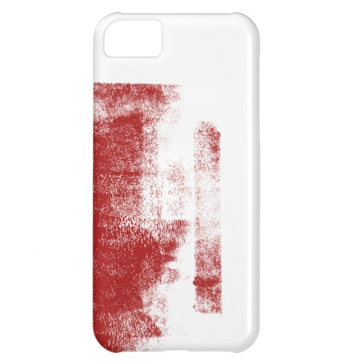 Pintura del rojo del Grunge Funda Para iPhone 5C