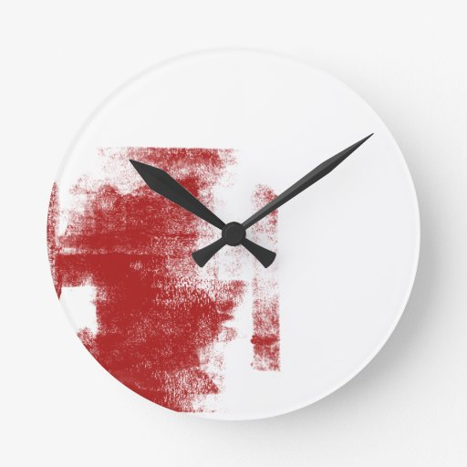 Pintura del rojo del Grunge Reloj