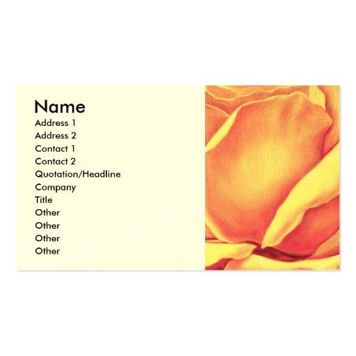Pintura del rosa amarillo - multi tarjetas de visita