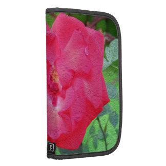 Pintura del rosa rojo planificadores