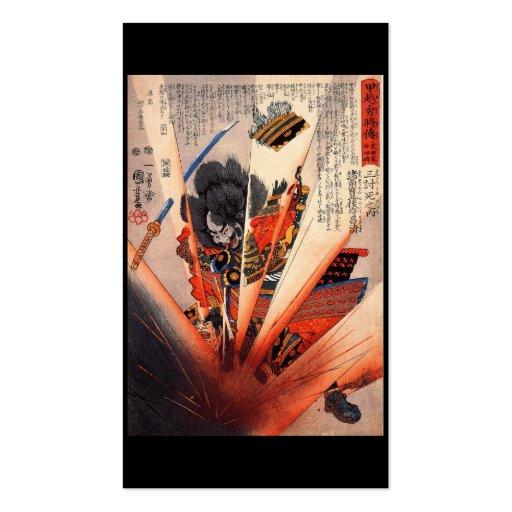Pintura del samurai, circa 1800's tarjetas de visita