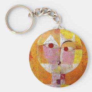 Pintura del Senecio de Paul Klee Llavero Redondo Tipo Pin