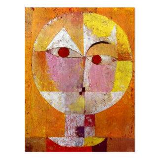 Pintura del Senecio de Paul Klee Postales