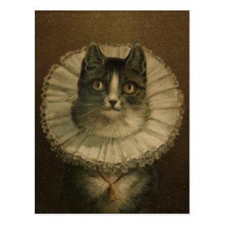 Pintura del siglo XIX del gato del vintage Tarjeta Postal