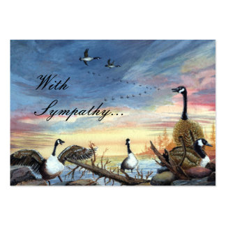 Pintura del sur del vuelo, con condolencia… tarjetas personales