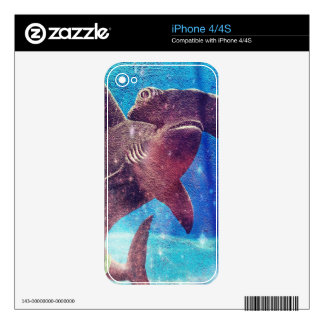 Pintura del tiburón de Hammerhead Calcomanías Para iPhone 4S