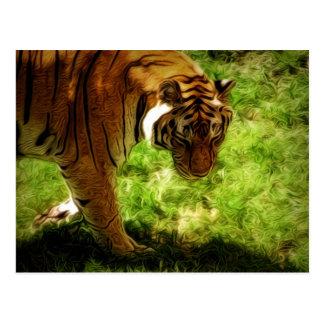 Pintura del tigre de Artisitic Postales