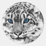 Pintura del tigre de Digitaces Etiqueta Redonda