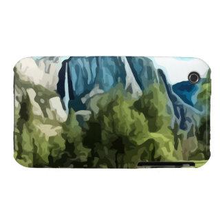 Pintura del valle de Yosemite iPhone 3 Case-Mate Cárcasas