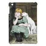 Pintura del Victorian del chica del perro que ador