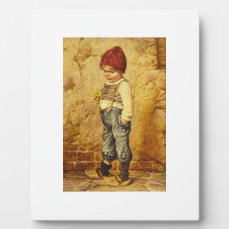 Pintura del vintage de Hansel que celebra Apple Placas Para Mostrar