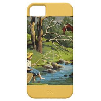 pintura del vintage de los pescados del lago de la iPhone 5 funda
