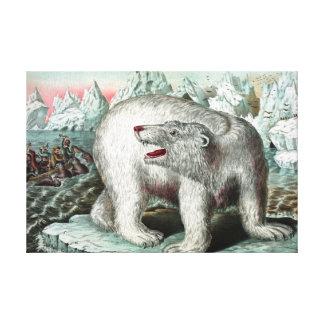 Pintura del vintage del oso polar lona estirada galerías