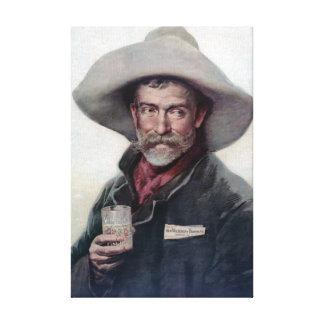 Pintura del vintage del retrato del vaquero lienzo envuelto para galerías