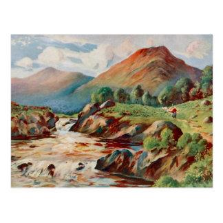 Pintura del vintage del río Conan en Ross-condado Tarjetas Postales